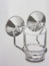 Set di accessori da bagno in argento vetro
