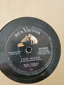 Lot Of 12 Elvis Presley 78rpm RCA Shellac Records Estate sale Find & Others