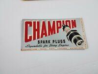 Vintage Champion Spark Plugs Automotive Advertisement Blotter