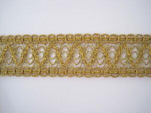 1 m Brokat Borte Gold BO-GB-1289