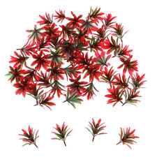 50 Pieces Red Orchid Flower Model Train Railways Trees Scenery 25mm 1:100