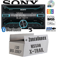 Sony Autoradio für Nissan X-Trail T30 2DIN Bluetooth CD USB iPhone Einbauset