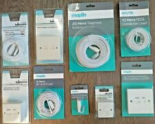 Maplin Joblot Surface Mount Telephone ADSL Extension Kit Broadband 10 20 metre