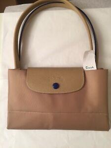 Longchamp Le Pliage Club Nylon Tote Handbag Large Tags 100% Authentic New /