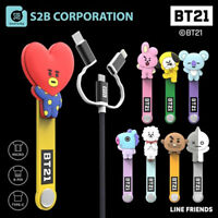 BTS BT21 Official Authentic Goods 3 in 1 Multi Cable by LINEFRIENDS