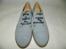 Hush Puppies Womens 8W Aiden Clever Oxford Powder Blue Perforated Suede 8 Wide