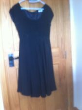 Size 10 Black Silk Party Dress - bespoke - hand made by ouida