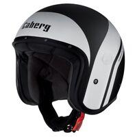 Caberg Freeride Mistral Matt Black/White Open Face Motorbike Motorcycle Helmet