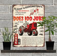 CASE TRACTOR FARM MACHINERY TOKHEIM GAS PUMP BANNER DISPLAY SIGN MURAL ART 2'X6'