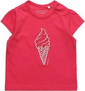 Esprit Baby Girl Red T-Shirt with Ice cream motif 100% cotton Top Size 9 month