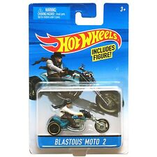 Hot Wheels 1:64 Scale Die-cast BLASTOUS MOTO 2 Motorcycle with Rider (Y0291)