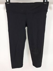 Girls Ivivva by Lululemon Black Capri Leggings Sz 6