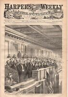 1868 Harpers Weekly March 7-Johnson and Congress at odds;Peru Revolution;Siberia
