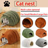 Pet Nest Cat Dog Winter Warm Sleeping Bed Closed Kennel House Puppy Cave Basket