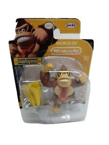 World of Nintendo Donkey Kong Figure with Bananas Gorilla Ape Jakks DK Tie New