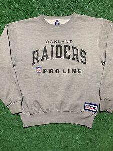 90s Oakland Raiders Pro Line Champion Athletic Crewneck Sweatshirt VTG Size L