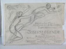LUDWIG KAINER ANCIEN PROJET AFFICHE LA LEGENDE DE JOSEPH STRAUSS 1931 ART DECO