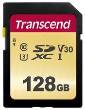 128Go Transcend 500 SDXC UHS-I U3 V30 SD MLC CL10 95Mo/s la carte memoire Flash