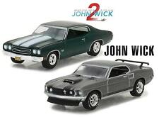 Set of 2 Greenlight 1/64 Scale John wick 1 & 2 Diecast car model Bundle NEW