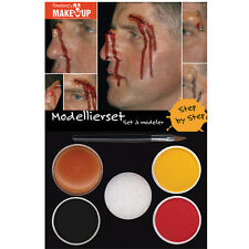 Modelling Face Putty Make Up Set Kit Halloween Fancy Dress Face Painting