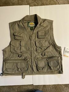 Cabela's Willow Creek Fishing Vest Size S Tan (New With Tags!)