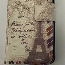 Étui pour IPHONE 5S 5 Housse Cuir PU Clapet Portefeuille - Paris Carte Postale