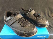 New Men's 43 (8.9US) - Shimano AM5 - Mountain Bike Shoes 2-Bolt Lace Up - Black