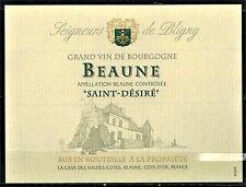 """Etiquette Vin de Bourgogne-Beaune """"Saint-Désiré-Seigneurs de Bligny-Réf.173"""