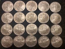 2010 AMERICAN SILVER EAGLE WALKING LIBERTY COIN 1 OZ SILVER DOLLAR LOT OF 20