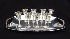 Vintage Silverplate CORTASA Serving Plate and ROMA S.L. Pedestal Goblets Spain