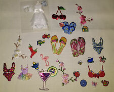"HOT 985 pcs Bulk Lot Embroidered Iron On Patch Applique ""Make Money"" Cheep Trim"