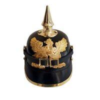 WW1 WW2 Imperial Officer's Helmet German Prussian Leather Pickelhaube Helmet SCX