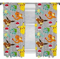 "POKEMON GO CATCH 66"" x 72"" CURTAINS NEW BEDROOM - IN STOCK!"