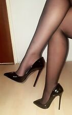 High Heels Stiletto Pumps in Schwarz Lack mit 13 cm absatz Gr. 37-38-39-40