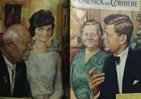 LA DOMENICA DEL CORRIERE N.25 1961 KRUSHEV KENNEDY