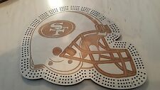 San Francisco 49ers Football Helmet Three Track Cribbage Board