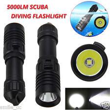 Underwater 100m 5000LM XM-L2 LED 18650 Scuba Diving Flashlight Torch Light Lamp
