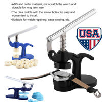 Watch Jewelry Repair Tool + 12 Dies Back Case/Cover Crystal Glass Closer Press