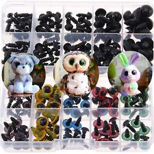 100X Diy Plastic Safety Eyes Soft Toys Teddy Bear Doll Animal Making Craft Screw