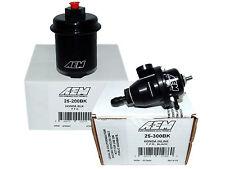 AEM Adjustable Fuel Pressure Regulator + High Volume Filter (25-300BK+25-200BK)