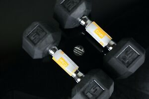 CAP 15lbs Dumbbells Set of 2 Rubber Coated Hex Weightlifting Weights Training