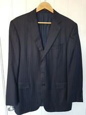 ERMENEGILDO ZEGNA Recent Traveller Micronsphere Blue Striped 3-Btn Jacket 44R