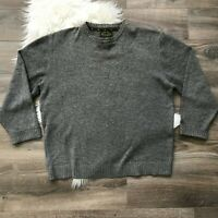 Orvis Collection Men's Wool Cashmere Blend Pullover Sweater Gray XL