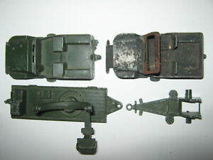 Lone star 2 jeep bodies  + pom pom  base + short cannon base all parts useable