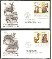 US SC # 2390-2393 Carousel Animals FDC. Postal Commemorative Society Cachet