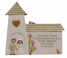 Golden (50th) Wedding Anniversary Personalised Engraved Gift