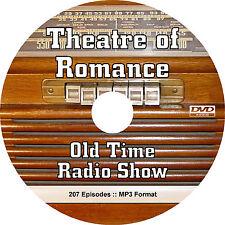 Theatre of Romance (207 Episodes) Old Time Radio OTR Show - MP3 Audio on DVD