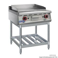 Griddle on stand with 2/3 flat,1/3  grooved plate LPG