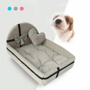 Cute Pet Dog Cat Bed House Chew Proof Beds Elevated Warm Sofa Plush Mattress NEW