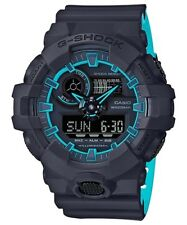 Casio G-Shock Dual Tone Black/Blue Analogue/Digital Mens Watch GA700SE-1A2
